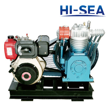 Marine Double-row Medium Pressure Air-cooled Emergency Air Compressor
