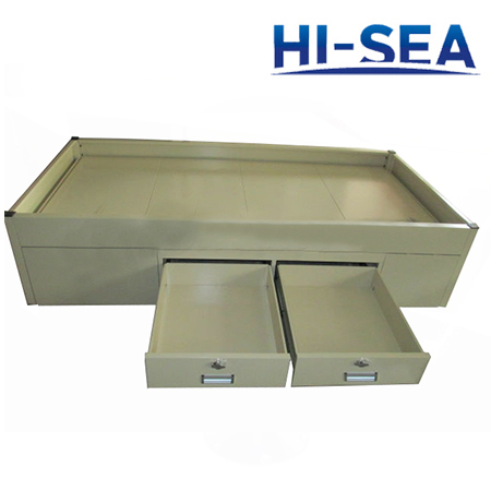 Marine Galvanized Steel Single Bed with Locks