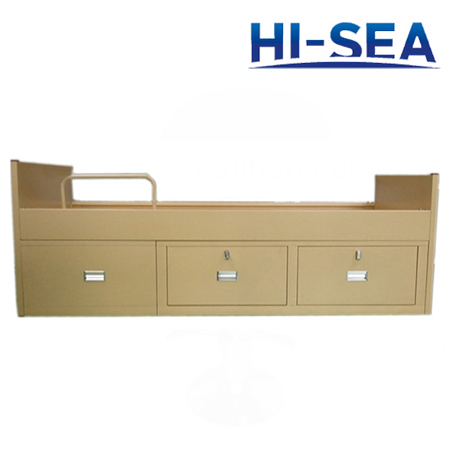 Marine Metal Single Bed with Drawers