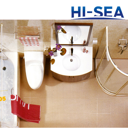 Marine Prefabricated Wet Unit with Bathtub