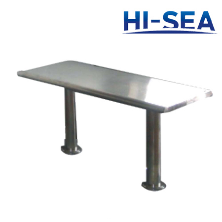Marine Rectangular Stainless Steel End Table