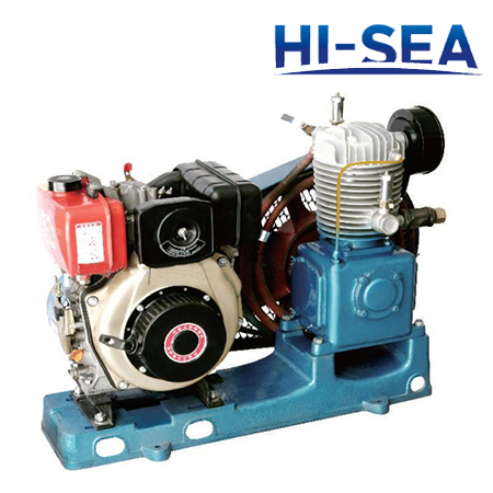 Marine Single-row Medium Pressure Air-cooled Emergency Air Compressor