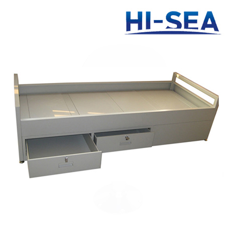 Marine Steel Single Bed with Locks