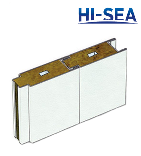 Type A Composite Rock Wool Wall Panel with Cable Slot