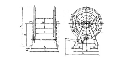 Marine Steel Wire Reel Type AW