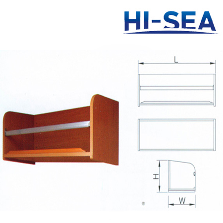 Marine Wood Book Rack