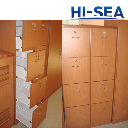 Wood Marine Drawer Cabinet