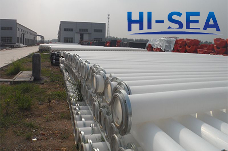 225mm White Dredge HDPE Pipe