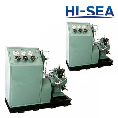Marine Horizontal High Pressure Water-cooled Air Compressor