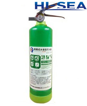 Portable water type fire extinguisher 900ml