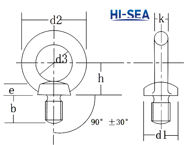 Rigging Marine Hardware JIS1168 Eye Bolt