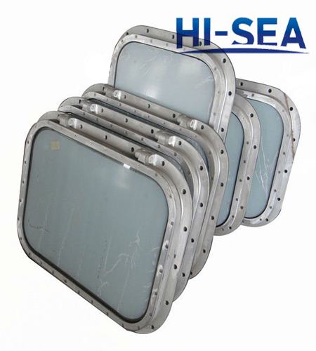 Marine Hinged Rectangular Window