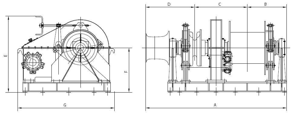 hydraulic combined windlass mooring winch supplier  china marine windlass manufacturer