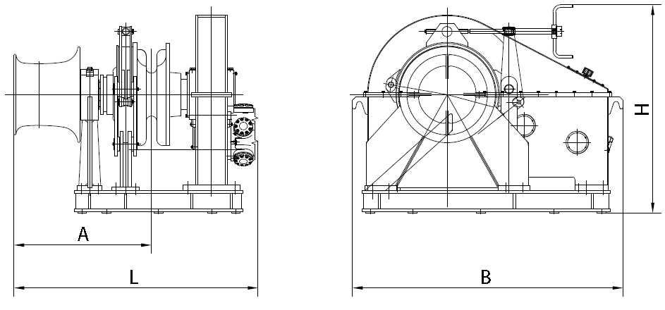 single hydraulic windlass supplier  china marine windlass
