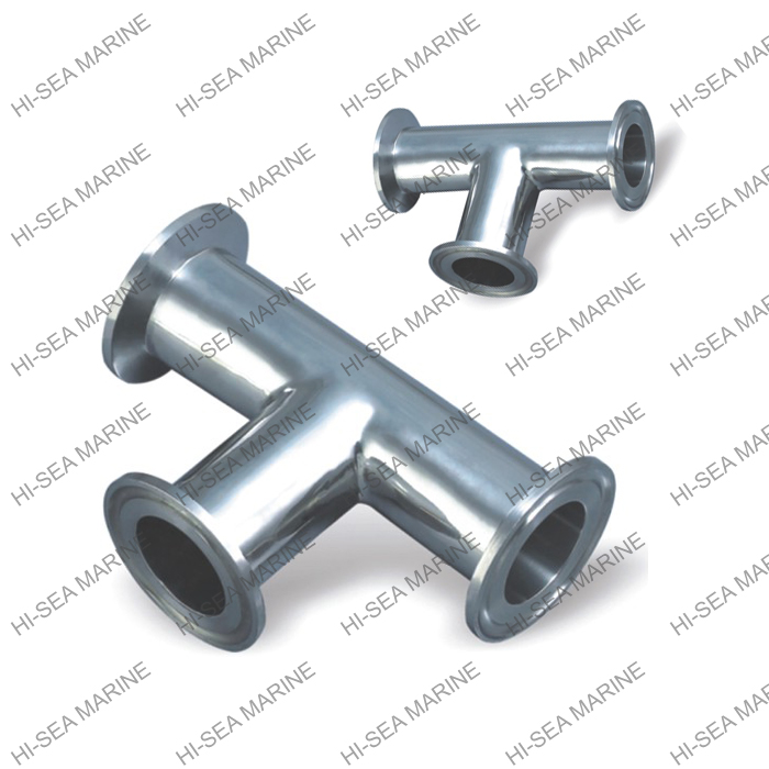 Stainless steel sanitation quick connect equal tees
