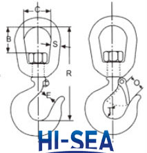 US Type Lifting Swivel Hook 322