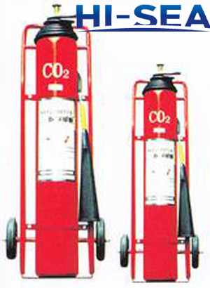 photo of the wheeled CO2 fire extinguisher