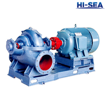 CWS Marine Double Suction Mid-open Horizontal Centrifugal Pump
