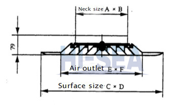 Galvanized Steel Diffusion Outlet