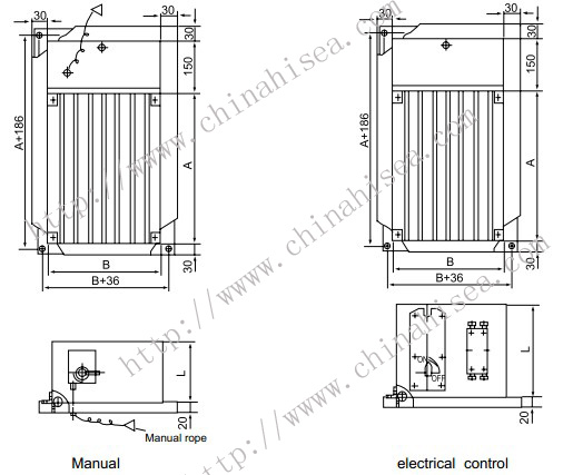Marine Rectangular Fire Damper with Grid