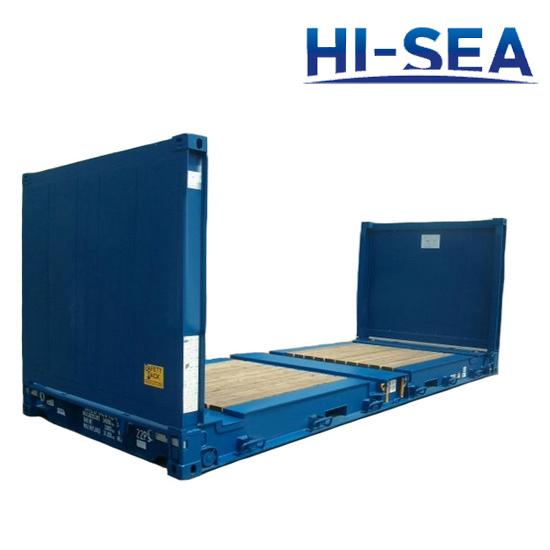 flat rack container supplier china container manufacturer hi sea marine. Black Bedroom Furniture Sets. Home Design Ideas