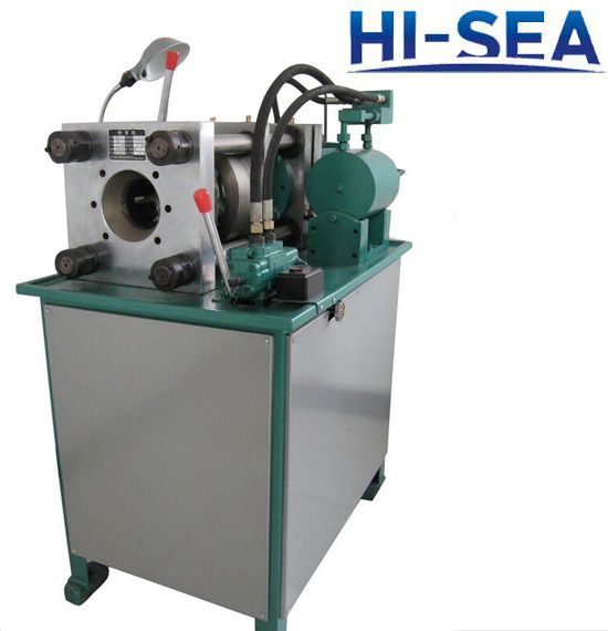 High pressure pipe locking machine