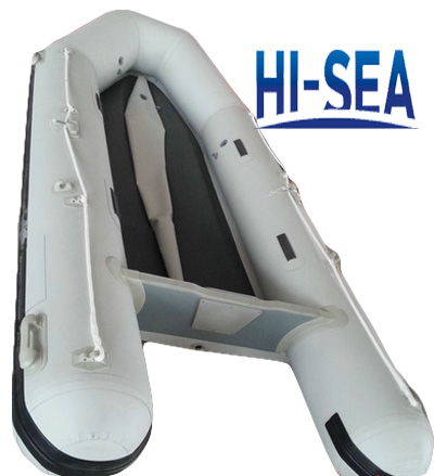 Inflatable boat with airmat floor