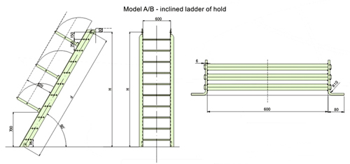 Cargo Hold Inclined Ladder Supplier China Marine Ladder