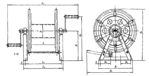 mooring steel wire reel cb t3468