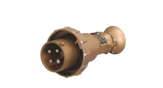 Marine Brass High-current Water-tight Plug , Socket and Socket with Chain Switch
